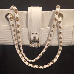 Gianni Versace Ivory Tassel Quilted Shoulder Bag